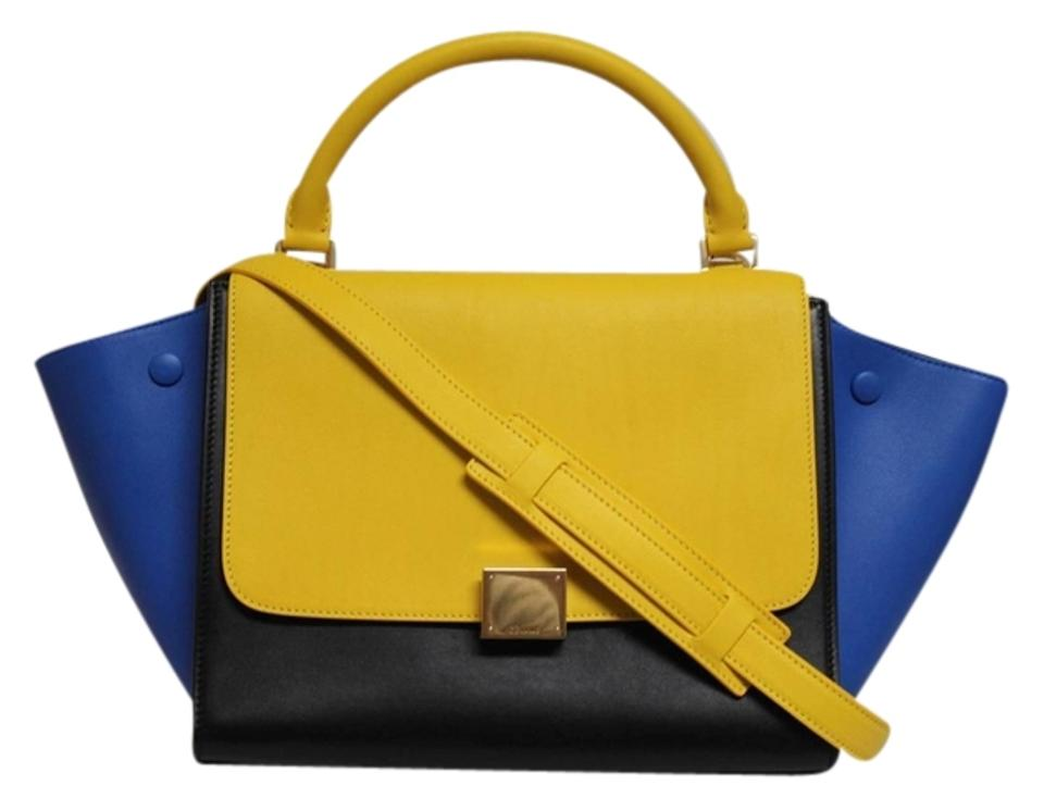 Sunflower Small Runway Weekend Bag Céline Travel Tricolor New Leather  Trapeze Luggage wFxqIA ... e44eb9bb1d2c3