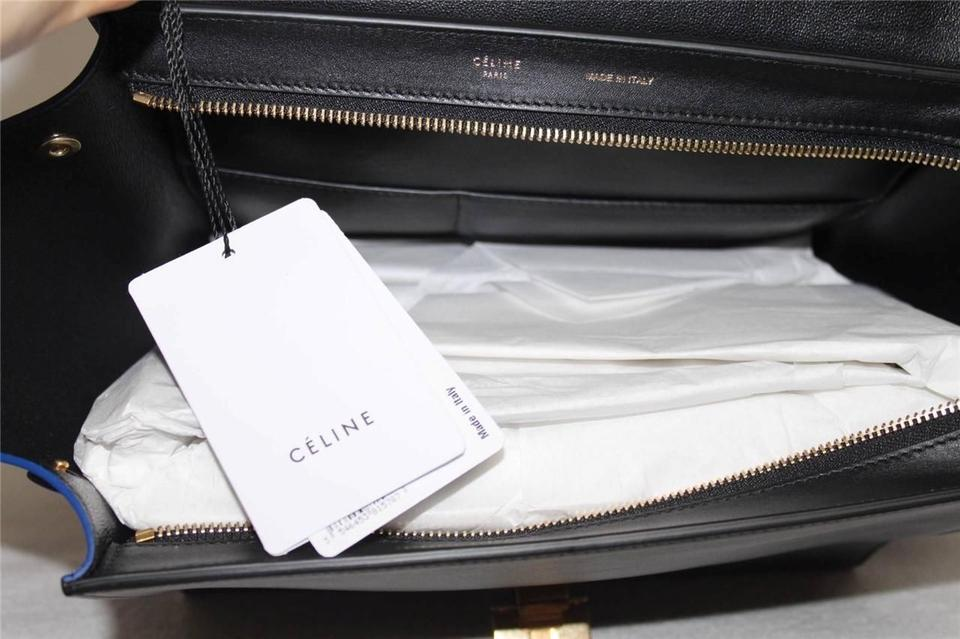 58d4b31871b8 Céline Trapeze Luggage New Runway Sunflower Small Tricolor Leather ...