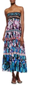 blue multi-colored Maxi Dress by Jean-Paul Gaultier Resort Skirt Multicolored Luxury