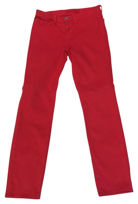 Item - Red Coated 811 K Bright Skinny Jeans Size 25 (2, XS)