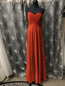 Allure Bridals Rust Chiffon 1221 Feminine Bridesmaid/Mob Dress Size 10 (M)
