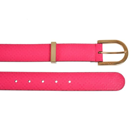 Gucci Gucci Women's Leather Bright Pink Belt Size 36 354382