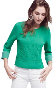 Anthropologie Moth Xs Embossed Sweater
