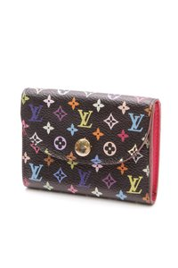 Louis Vuitton Louis Vuitton Black Multicolore Monogram Canvas Card Holder Wallet
