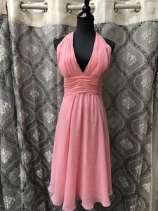 Evenings By Allure Coral 1323 Bridesmaid/Mob Dress Size 12 (L)