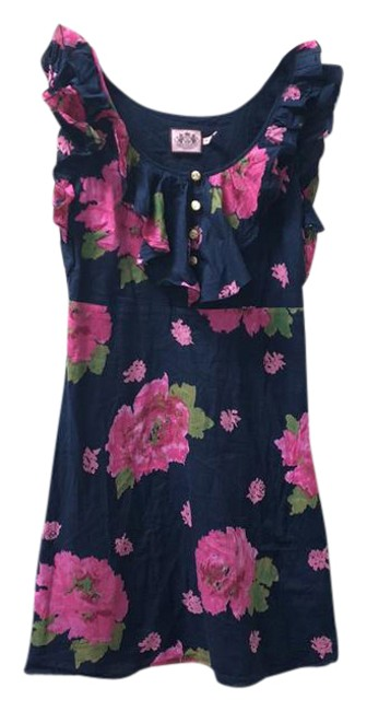Preload https://img-static.tradesy.com/item/21084384/juicy-couture-navy-floral-pink-print-ruffles-0-xs-short-casual-dress-size-0-xs-0-4-650-650.jpg
