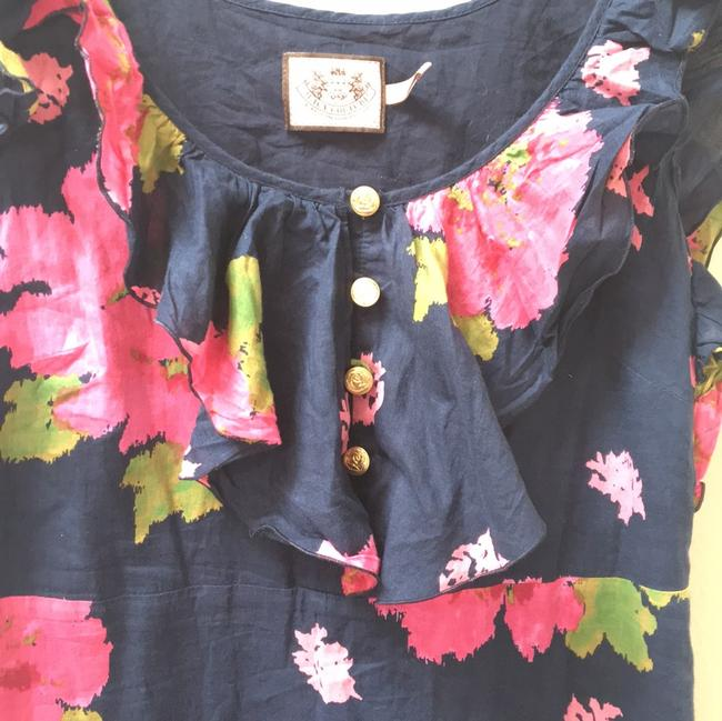 Juicy Couture short dress Navy Floral Ruffle on Tradesy Image 1
