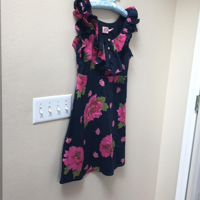 Juicy Couture short dress Navy Floral Ruffle on Tradesy Image 2