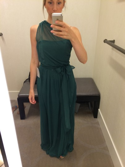 Dessy Hampton Green Chiffon Lr188 Feminine Bridesmaid/Mob Dress Size 4 (S)