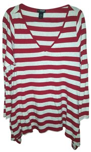 Lane Bryant Striped Comfortable Flowy Side Pockets Tunic
