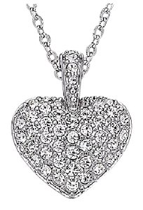 Swarovski Swarovski Puffy Heart Necklace
