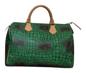 Louis Vuitton Speedy Monogram Coated Canvas Limited Edition Leather Satchel in Green