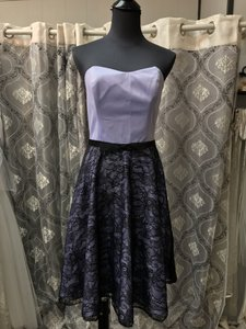 Allure Bridals Lilac/Black 1353 Bridesmaid/Mob Dress Size 10 (M)