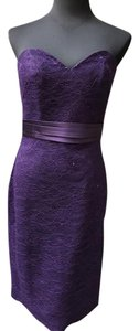 Allure Bridals Eggplant 1357 Bridesmaid/Mob Dress Size 6 (S)