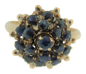 Other Vintage Sapphire Modified Thai Princess Ring- 14k Yellow Gold