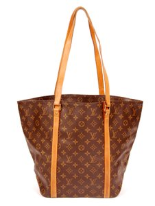 Louis Vuitton Monogram Neverfull Sacshopper Canvas Tote in Brown