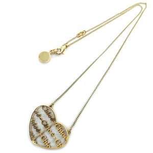 Chlo Chloe Vintage Heart Logos Charm Chain Pendant Necklace