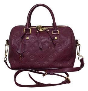Louis Vuitton Satchel in Aurore (Maroon)