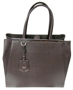 Fendi 2 Jours Brown Tote in Coffee