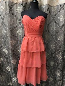 Allure Bridals Salmon 1375 Bridesmaid/Mob Dress Size 10 (M)