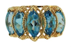 Other Antique Hande-Made Topaz Ring- 14k Yellow Gold