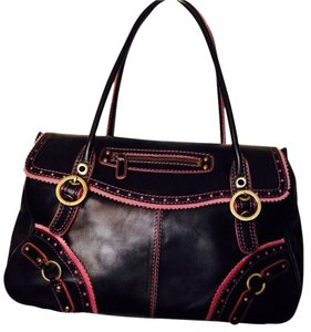 Rafe Satchel in Black/ Hot Pink