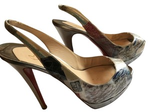 Christian Louboutin Louboutin Trash Limited Edition Collection Silver Pumps