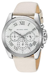 Michael Kors Women's MK2633 Brecken Chronograph Silver Dial Taupe Leather