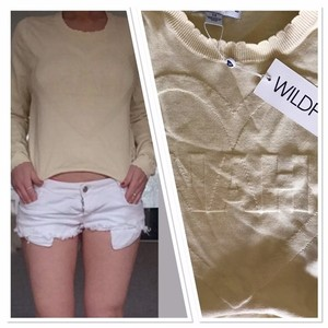 Wildfox Cropped Sexy Sweater