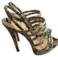 Christian Louboutin Python Strappy Multi Sandals