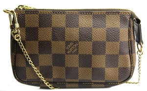 Louis Vuitton Evening Pochette Pochette Accessories Mini Pochette Damier Ebene Clutch