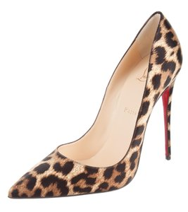 Christian Louboutin Pointed Toe Leopard So Kate Animal Print Pigalle Brown, Black Pumps