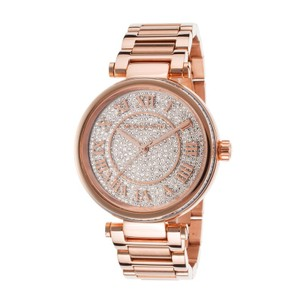 Michael Kors NWT Michael Kors MK5868 Skylar Crystal Pave Dial Rose Gold Tone Watch