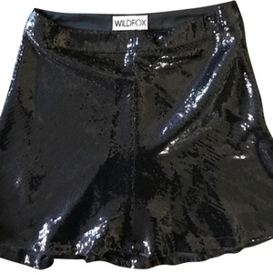 Wildfox Sequin Lula Mini Sequin Skirt Black