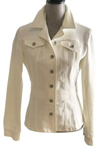 DKNY Spring Size Small White Womens Jean Jacket