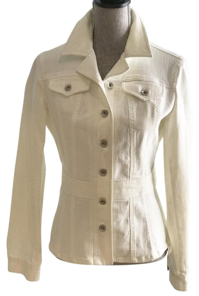 157fe6b1f0a7 DKNY Spring Size Small White Womens Jean Jacket Image 0 ...