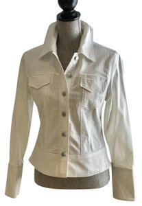 Willi Smith Jeans Size Small Spring White Womens Jean Jacket
