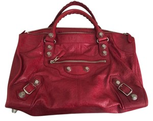 Balenciaga Satchel in Pomegranate Red