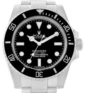 Rolex Rolex Submariner Mens Ceramic Bezel Non Date Watch 114060 Box Papers