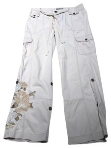 Express Embroidered Size 8 Cargo Pants Khaki