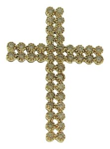 Other Antique Diamond Encrusted Cross- 10k Yellow Gold