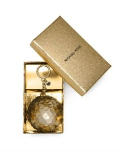 Michael Kors NWT & BOXED DISCO POM POM KEY FOB KEY RING FOR BAG CHARM GOLD