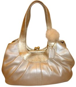 Coach Refurbished Large Leather Lined Hobo Bag