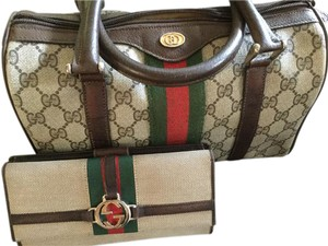 Gucci Wallet Doctors Vintage Satchel in Brown