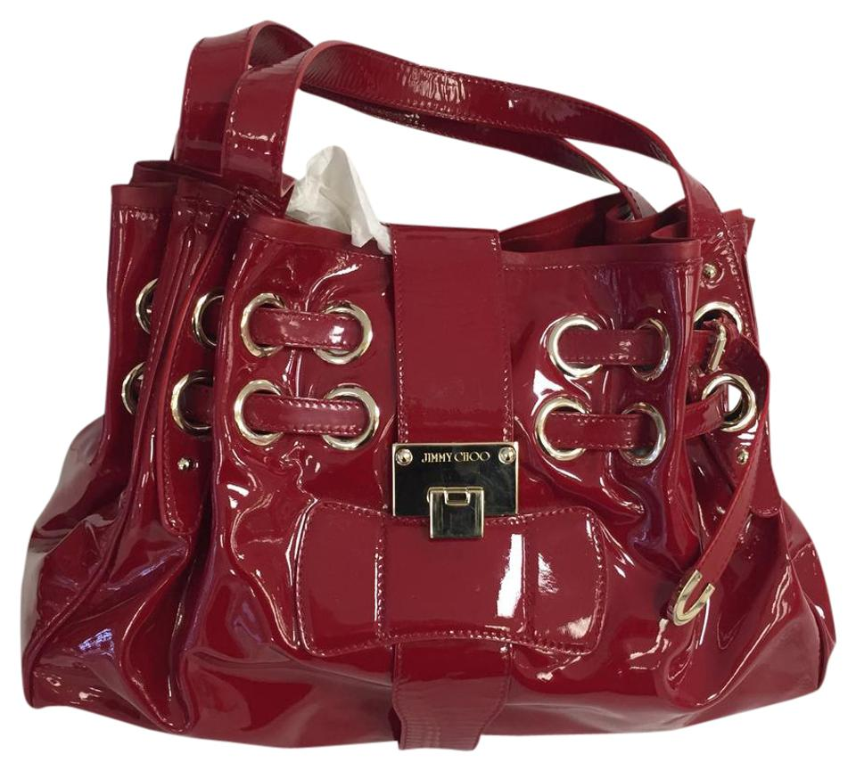 a28d4a92c85 Jimmy Choo Ramona Red Patent Leather Satchel - Tradesy