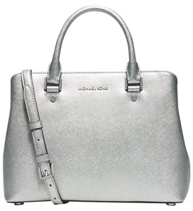 Michael Kors Savannah Medium Satchel in Silver