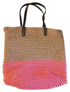 Gap bright pink and tan Beach Bag