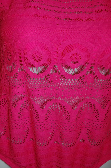 Kenneth Cole Reaction Kenneth Cole Reaction Pink with Lace Removable Bra Pads Size M Image 1