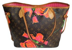 Louis Vuitton Floral Tote in Brown Monogram with Flowers