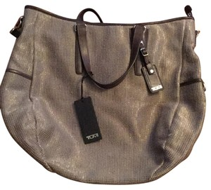 Tumi Satchel in gold/taupe
